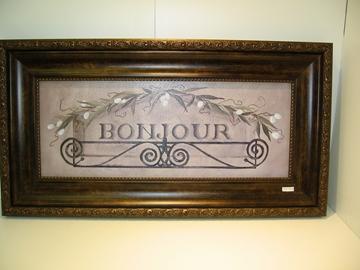 Cadre décoratif image BONJOUR