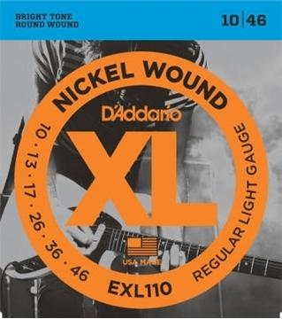 Image de D'Addario Cordes De Guitare Électrique (EXL110,  EXL115,  EXL120,  EXL125)