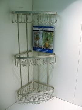 INTERDESIGN étagère de rangement en coin pour douche