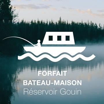 Séjournez en bateau-maison au Réservoir Gouin