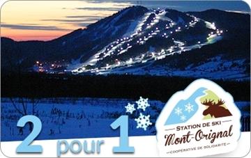 2 pour 1 billet pour la planche et le ski en soirée