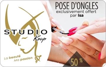 50 % sur une pose d'ongles - Studio Koup