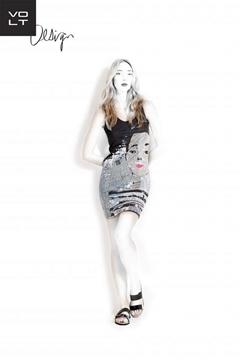 Image de Volt design robe courte avec motif réversible