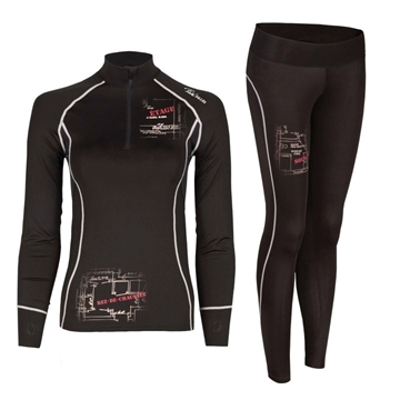 Image de Sous-vêtements TEK-Air avec plans – PF110 Pilote et filles noir
