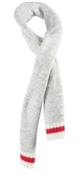Image de ensemble tuque, foulard et mitaine Läska ligne rouge gris