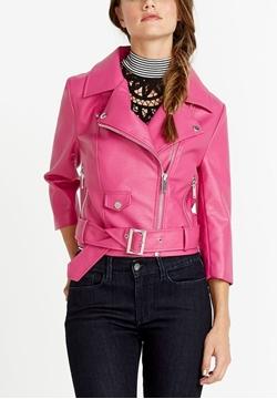 Image de Buffalo jacket PU avec fermeture éclair et poches multiples avec ceinture