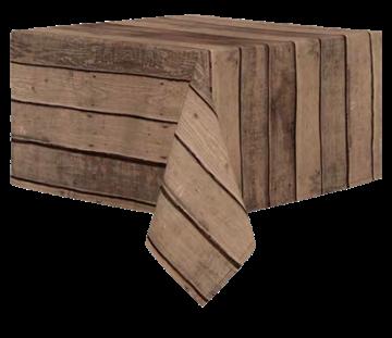 Image de Nappe en Peva imitation bois brun