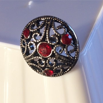 Bouton strass rouge 5mm