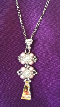 Chaîne perla rose