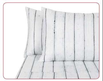 Image de Ensemble de drap 100 % microfibre de polyester à impression photographique -Bois blanc