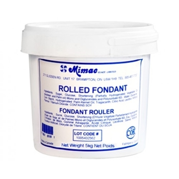 Fondants à Rouler Blanc Vanille 5 KG de Mimac   M2300B