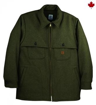 Image de manteau en laine mérinos vert Big BIll 461MER