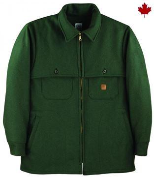 Image de manteau en laine vert Big Bill 461CAB