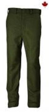 Image de pantalon de laine mérinos régulier vert Big BIll  214MER