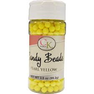Candy Beads  Pearl Yellow 3.5 oz de CK Products | 78-524Y