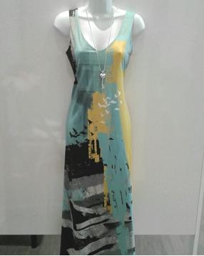 Image de Volt design robe longue avec motif réversible