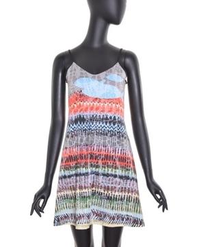 Image de Voltdesign robe courte collection Redfish avec motif et fines bretelles