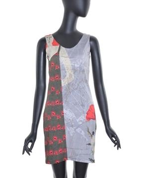 Image de Voltdesign robe courte collection Pavot avec motif et bretelles larges