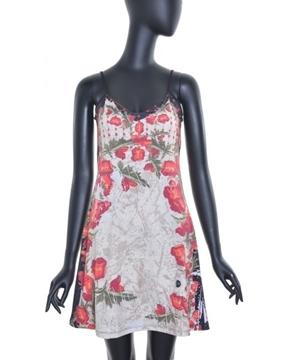 Image de Voltdesign robe courte collection  Pavot avec motif et bretelles fines