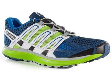 Chaussure de course route Salomon X-Scream homme bleu-vert-blanc