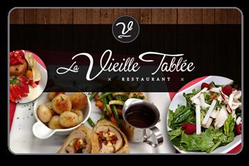 50% de rabais sur une carte cadeau de 30$ - DÎNERS SEULEMENT- Restaurant La Vieille Tablée