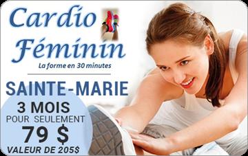 Payer 79$ pour un entraînement de 3 mois de 204,99$ chez Cardio féminin Ste-Marie