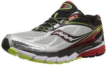SAUCONY - Chaussures de course sur route - SAUCONY RIDE 8 SIL/RED/CTN 8.5 - gris-rouge - homme