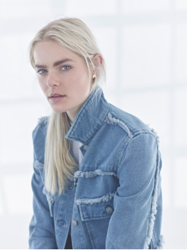 Image de Unpublished jean jacket bleu avec franges