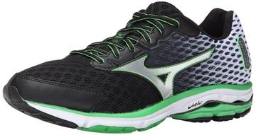 MIZUNO - Chaussures de course sur route - WAVE RIDER 18 BK-SL - vert-gris-noir - homme