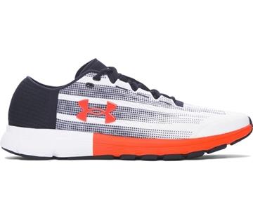 UNDER ARMOUR - Chaussures de course sur route - UA SPEEDFORM VELOCITI-WHT/BLK/PXF - ORANGE-BLANC-NOIR - homme