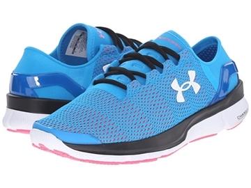UNDER ARMOUR - Chaussures de course sur route - UA W SPEEDFORM APPOLO 2 DOB-HYR-WHT - BLEU-ROSE-BLANC - femme