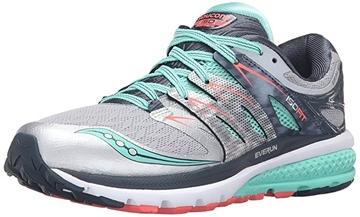 SAUCONY - Chaussures de course sur route - ZEALOT ISO2 W - gris-vert-rose - femme
