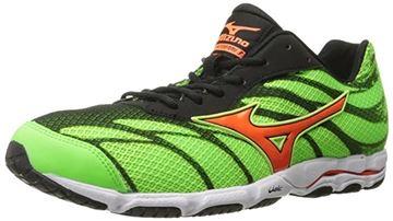 MIZUNO - Chaussures de course sur route - WAVE HITOGAMI 3 M - vert-orange - homme