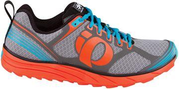 PEARL IZUMI - Chaussures de course en sentier - PI EM TRAIL M2 - gris-orange-bleu - homme