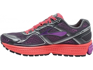 BROOKS - Chaussures de course sur route - GHOST 8 - mauve-orange-gris - femme