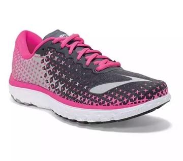 BROOKS - Chaussures de course sur route - PUREFLOW 5 - rose-noir-gris - femme