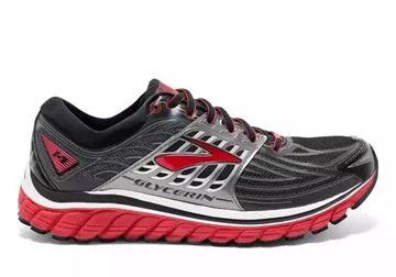 BROOKS - Chaussures de course sur route - GLYCERIN 14 - GRIS-ROUGE - homme