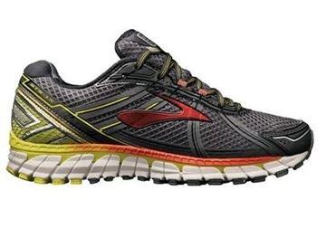 BROOKS - Chaussures de course sur route - ADRENALINE GTS 15 - GRIS-JAUNE-ROUGE - homme