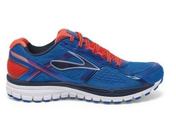 BROOKS - Chaussures de course sur route - GHOST 8 - bleu-orange-blanc - homme