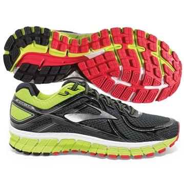 BROOKS - Chaussures de course sur route - ADRENALINE GTS 16 - NOIR-JAUNE - homme