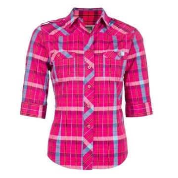 Image de chemise de travail en coton manche 3/4 Pilote et filles rose