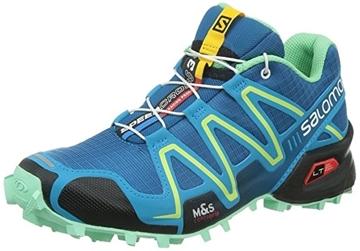 SALOMON - Chaussures de course en sentier et/ou en hiver - SPEEDCROSS 3 - BLEU-JAUNE-NOIR - femme