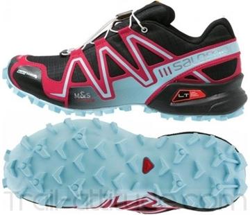 SALOMON - Chaussures de course en sentier et/ou en hiver -  SPEEDCROSS 3 CS W - rouge-bleu-noir - femme