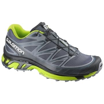 SALOMON - Chaussures de course en sentier -  WINGS PRO - gris-vert - homme