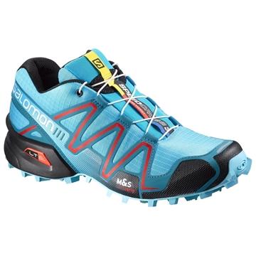 SALOMON - Chaussures de course en sentier et/ou en hiver - SPEEDCROSS 3 - BLEU-ROUGE-NOIR - femme