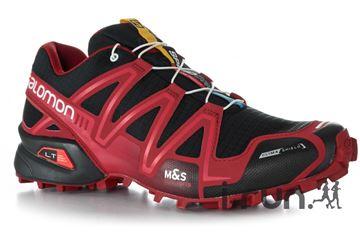 SALOMON - Chaussures de course en sentier et/ou en hiver - SPEEDCROSS 3 CS - rouge-noir - homme