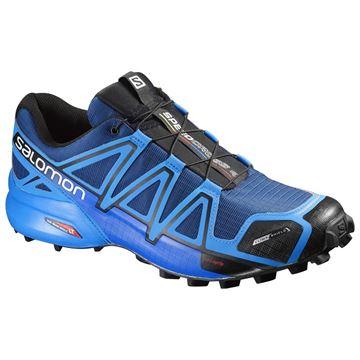 SALOMON - Chaussures de course en sentier et/ou en hiver - SPEEDCROSS 4 CS - bleu - homme
