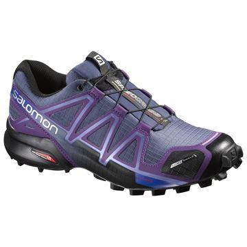 SALOMON - Chaussures de course en sentier et/ou en hiver -  SPEEDCROSS 4 CS - mauve-gris-noir - femme
