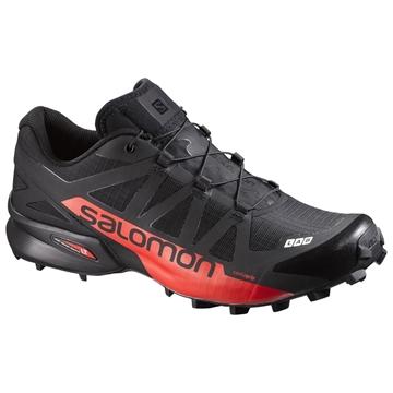 SALOMON - Chaussures de course en sentier -  S-LAB SPEEDCROSS - NOIR-ROUGE - femme