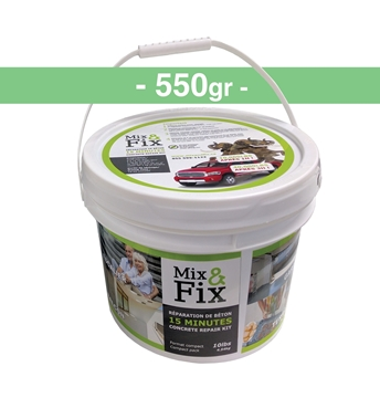 Kit de réparation de Béton MIX AND FIX 550gr